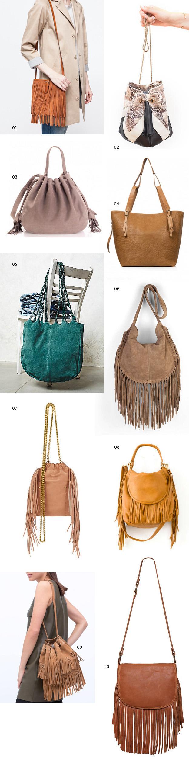 ten fringe bags